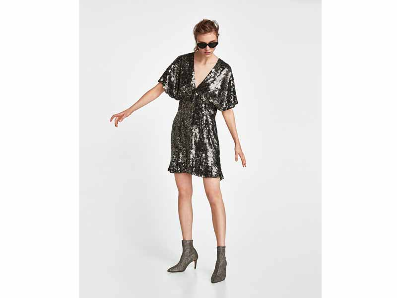 Sequin dress by Zara, available at Mall of the Emirates and City Centres