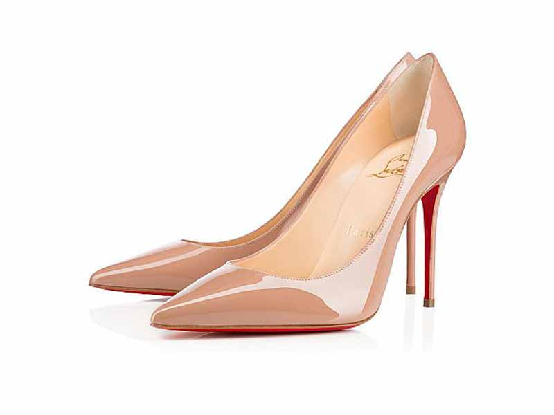 Nude heels by Christian Louboutin, available at Mall of the Emirates