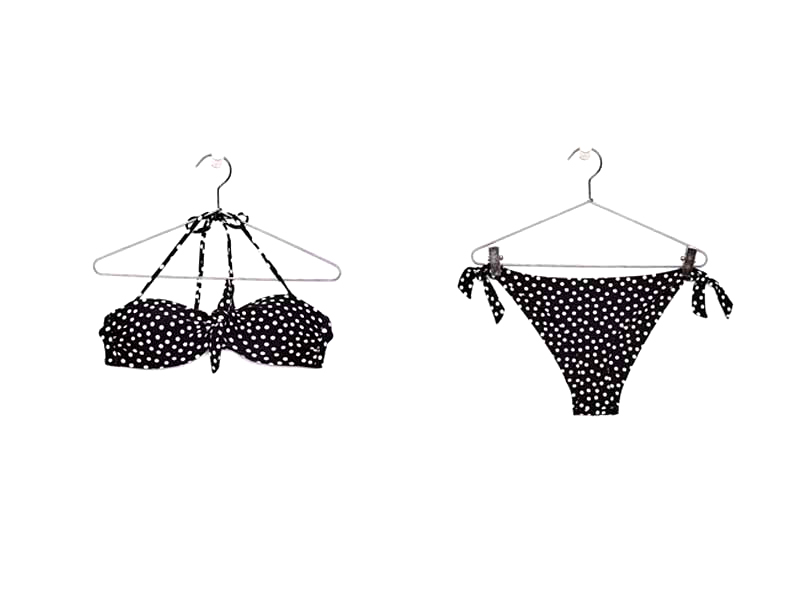 Black bikini by Bershka, available at Mall of the Emirates and Majid Al Futtaim City Centres