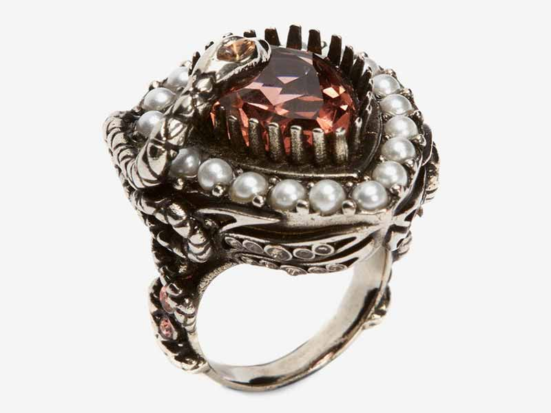 Metal and jewel ring from Alexander McQueen