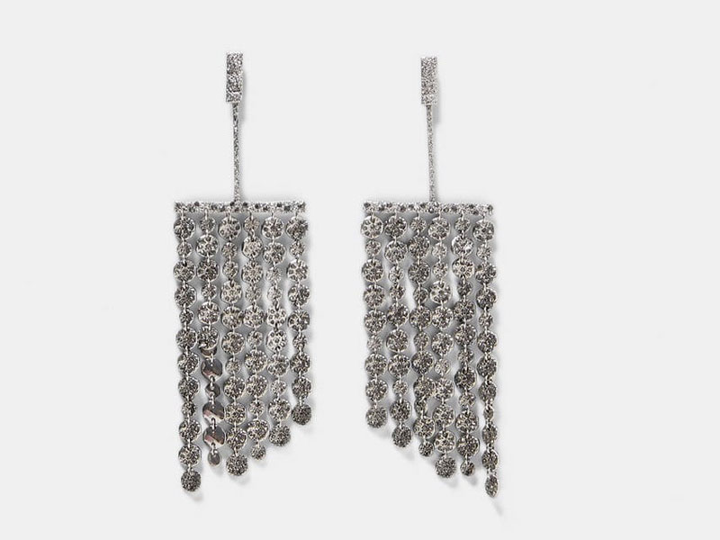 Crystal earrings by Zara, available at Mall of the Emirates and Mall of Egypt, plus City Centres